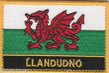 More details for llandudno wales cymru town & city embroidered sew on patch badge