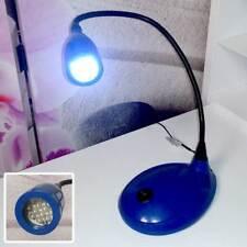 Tischlampe LED blaue Schreibtischlampe mit Schwanenhals