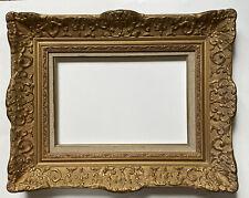 Beau Cadre ancien en bois Doré Montparnasse LXV Décor Bérain 4P 33 cm x 22 cm