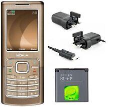 New Condition Nokia 6500 Classic Bronze Unlocked Camera Bluetooth Mobile Phone