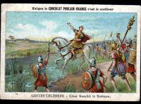 IMAGE CHOCOLAT POULAIN / GUERRE / ARMEE Romaine de Jules CESAR ARMEE au RUBICON
