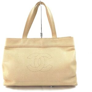 Chanel Tote Bag  Beiges Leather 1515901