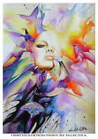 LIMITED EDITION PRINT BY ELLECTRA - BUTTERFLIES / ORIGINAL NUDE EROTIC OIL