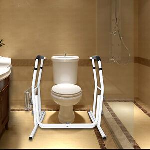WC Aufstehhilfe Toilettengestell WC Stützhilfe Höhenverstellbar Toilettenstütze