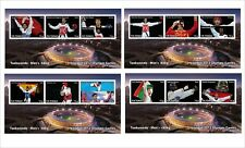 2012 OLYMPICS TAEKWONDO 8 SOUVENIR SHEETS MNH UNPERFORATED SPORTS