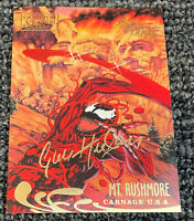 1995 Fleer Ultra Spider-Man Gold Foil Signature - Carnage USA MT Rushmore #142