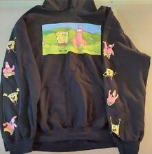 SZ XL Nickelodeon SpongeBob SquarePants Sponge Bob Black Hoodie