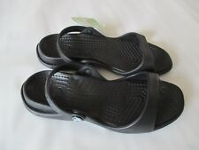 Crocs Cleo Sandals, Women's Size 9 Black/Black NWT FREE USA SHIPPING