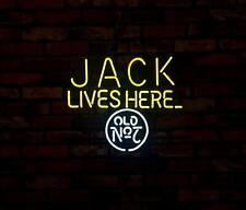 """JACK LIVES HERE"" Restaurant BEER Bar  Neon Sign Light Window Wall Poster"