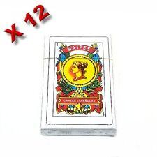 12 X NAIPES BARAJA ESPANOLA SPANISH PLAYING CARDS DECK (1 Dozen)