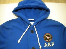 ABERCROMBIE & FITCH MENS HOODIE XXL EX CON,BUTTON UP JACKET/JUMPER...