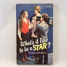 What's It Like to Be A Star Lurlene McDaniel Book RARE YA Novel 1982