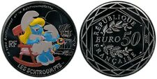 2020 France 50 Euros Bébé Schtroumpf / Baby Smurf - PCGS MS70