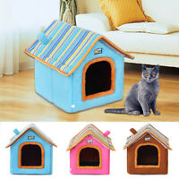 Dog Cat Cosy Warm Winter Bed Igloo House Soft Luxury Basket For Pets Puppys Mat