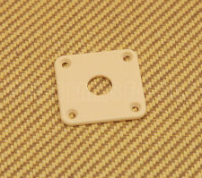 AP-0633-028 Square Jack Plate For Les Paul® Guitar/Bass - Cream Plastic