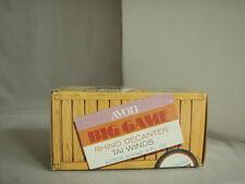 Vintage Avon Big Game Rhino Decanter Tai Winds EMPTY Bottle is MIB