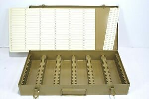 Logan Metal Slide File Holds 150 Glass Mount Slides Or 300 Ready Mounts