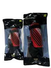 Adidas X Youth Soccer Shin Guards & Ankle Support Size S-L Red & Black Dz2060