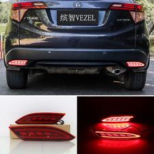 LED Rear Bumper Reflector Lights Brake Lamps For HONDA Vezel HRV 2015-2016