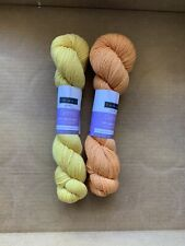 Discontinued Louet Gems Yarn! LOT of 2!Orange and Yellow!