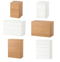 IKEA KULLEN CHEST OF DRAWERS BEDROOM FURNITURE IN WHITE & OAK 2, 3 & 5 DRAWER