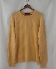 Robert Trent Jones Soft Yellow 100% Cashmere Sweater Extra Large XL
