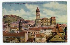 Panoramic View Showing Cathedral, Malaga Spain Vintage Souvenir Postcard