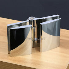 NEW 1PCS Brass Frameless Bathroom Shower Door Hinges Glass to Glass Hinge Chrome