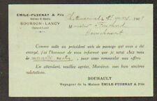 """BOURBON-LANCY (71) Usine AGRICOLE & TRACTEUR """"Emile PUZENAT a Fils"""" 1909"""