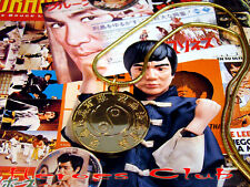 Bruce Lee Medallion Martial Arts Master Tribute Gold Plated with Gold Chain