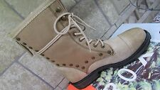 NEW ROXY CONCORD TAN LACE UP BOOTS BOOTIES WOMENS 7 MID CALF CUTE BOOTS!!!