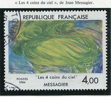 TIMBRE FRANCE OBLITERE N° 2300 TABLEAU JEAN MESSAGER / Photo non contractuelle