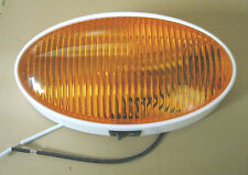 RV OVAL LIGHT WITH SWITCH AND AMBER LENS