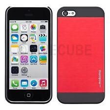iPhone 5c Hard Case Hülle Cover Bumper Tasche Metalloptik Schutzhülle Rot