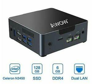 Mini PC Windows 10 Mini Desktop Computer Intel Celeron N3450, 6GB DDR4 128GB