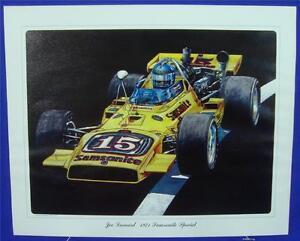 Joe Leonard 1971 Samsonite Special Colt/Ford Ron Burton Lithograph Print Indy500