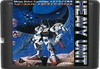 Heavy Unit (1988) 16 Bit Game Card For Sega Genesis / Mega Drive System
