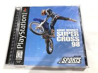 Jeremy McGrath Super Cross 98 PS1 Sony Playstation 1 COMPLETE CIB Tested Working