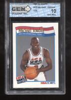 Michael Jordan 1991-92 Hoops #579 USA Team HOF Chicago Bulls GEM MINT 10