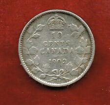 CANADA TEN CENTS 1902H   EDWARDVII  ..SILVER 92.5.%  MINTAGE 1,320,000