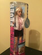 Barbie Doll Fashion Fever Pink Ruffled Top, Jean Skirt, Design by Hillary Duff