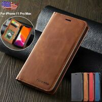 For iPhone XS Max XR 8 7 Case Leather Magnetic Flip Wallet Card Slot Stand Cover
