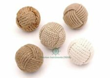 Nautical Decorative Jute Ball/Set of 5 Rope Knot/Nautical Bowl Filler/Rope Decor