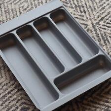 Grey Textured Cutlery Tray for 400mm Drawer | Blum Metabox | Kitchen Storage