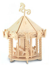 Carousel Woodcraft Construction Kit-MERRY GO ROUND IN LEGNO 3D KIT Modello Puzzle