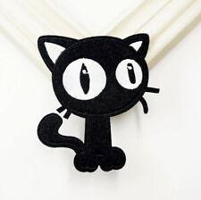 1 Écusson Brodé Thermocollant NEUF ( Patch ) - Chat Noir Black Cat ( A )