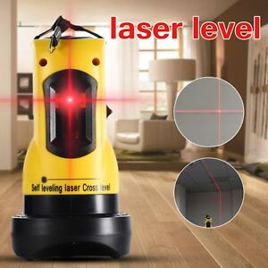 New Professional 2 Lines Laser Level 360 Rotary Cross Laser Line Leveling Job