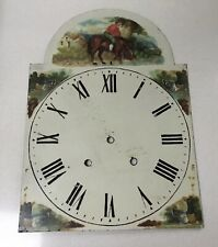 More details for antique arched painted longcase clock face