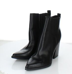 61-77 $190 Women's Size 7 M Marc Fisher Oshay Pointy Toe Bootie In Black