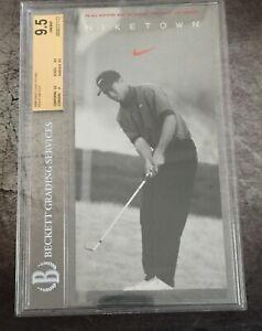 1996 Tiger Woods Niketown Promo Rookie Card RC BGS 9.5 GEM MINT  RARE